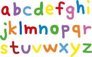 a~zまでのカラフルなアルファベット