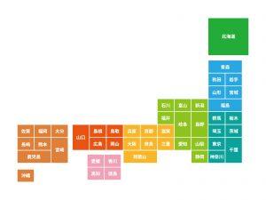 47都道府県の地図