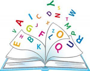 A~Zまでのアルファベットがテキストから飛び出している