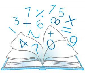 数字と四則計算の記号がテキストから飛び出している