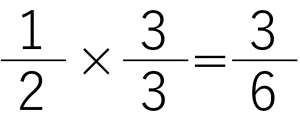 1/2×3/3=3/6