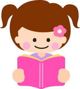 勉強を一生懸命やっている女の子のイラスト