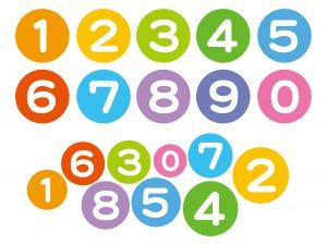 0~9までの数字が並べてある