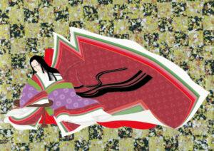 十二単を着た平安女性のイラスト