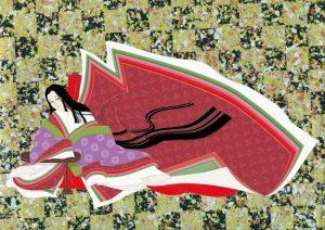 平安朝風の衣装をまとった女性