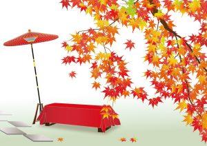 平安朝風な紅葉の風景