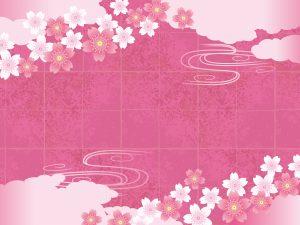 古文風な桜のイラスト