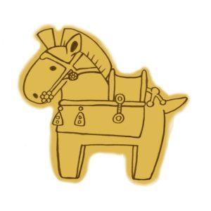 馬の形をしたはにわ