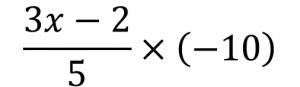 (3x-2)/5×(-10)