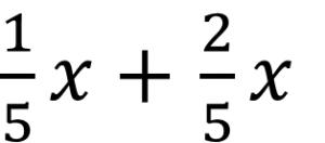 1/5x+2/5x