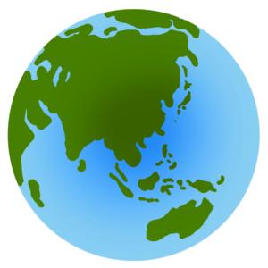 世界地理についてのイラスト