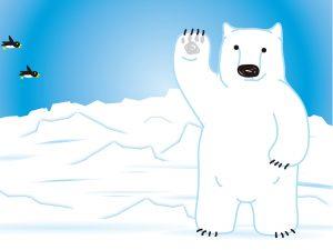 寒帯である北極周辺のイラスト