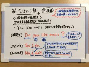 一般動詞の疑問文の練習問題①の解答