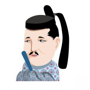 摂関政治を行った藤原道長のイラスト