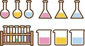 化学の実験道具のイラスト