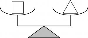 等式の性質を説明するためのてんびんの図①
