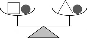 等式の性質を説明するためのてんびんの図②