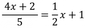 (4x+2)/5=1/2x+1