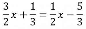 3/2x+1/3=1/2x-5/3
