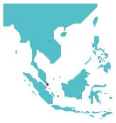 東南アジアの地図のシンプルなイラスト