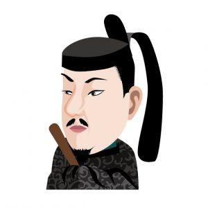 鎌倉幕府を開いた源頼朝のイラスト