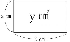 比例の関係を説明するための長方形のイラスト