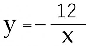 y=-12/x