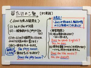 doesを使った疑問文の練習問題の解答が載っている画像