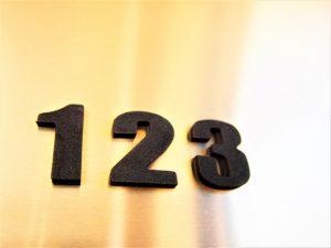1、2、3の数字が並んでいる写真