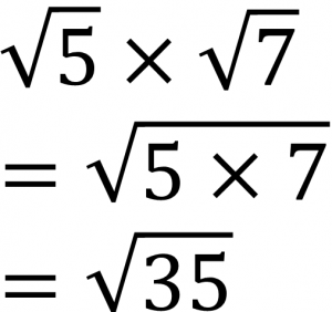 √5×√7=√5×7=√35