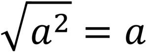 √a^2=a