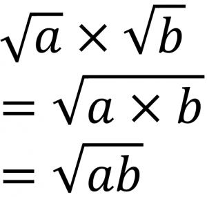 √a×√b=√a×b=√ab