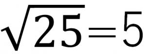 √25=5