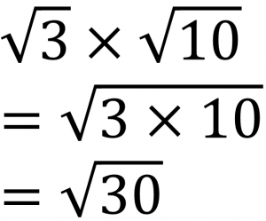 √3×√10=√3×10=√30
