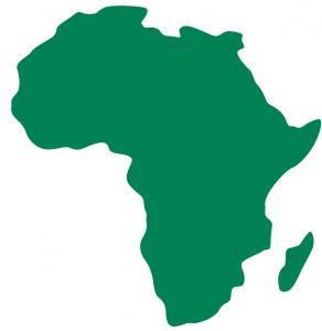 アフリカ大陸のイラスト