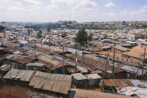 アフリカのスラム街の写真