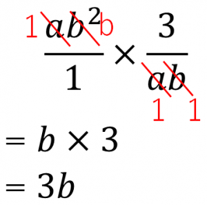 ab²×3/ab=b×3=3b