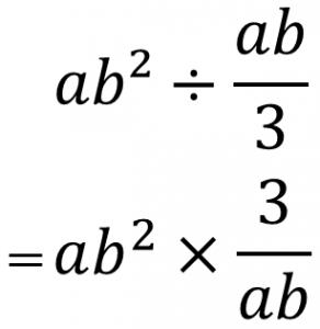 ab²÷ab/3=ab²×3/ab