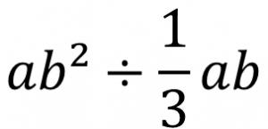 ab²÷(1/3)ab