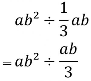 ab²÷(1/3)ab=ab²÷ab/3