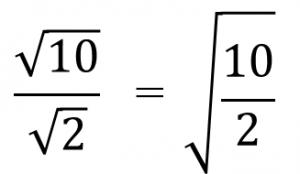 √10/√2=√10/2