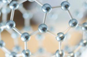 分子モデルの模型の写真