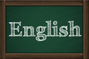 Englishと書いてある黒板