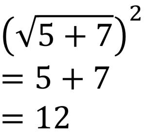 (√5+7)²=5+7=12